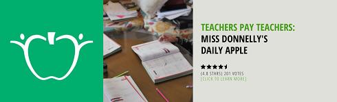 Teachers Pay Teachers - Miss Donnelly's Daily Apple